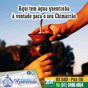 Água quentinha pro seu Chimarrão