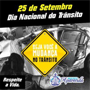 25 de Setembro – Dia Nacional do trânsito