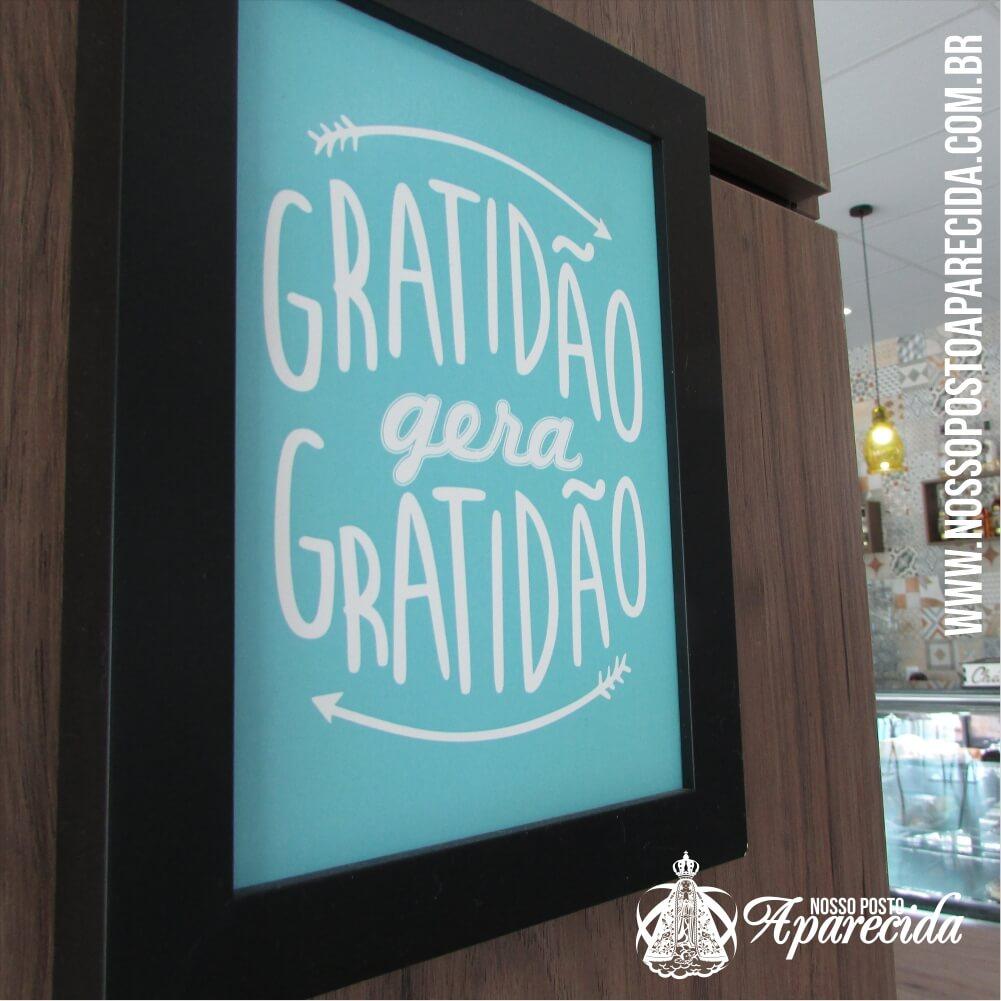 Gratidão gera gratidão