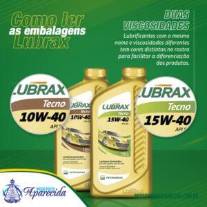Como ler embalagem LUBRAX II